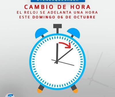 Cambia la hora, a adelantar 60 minutos el reloj