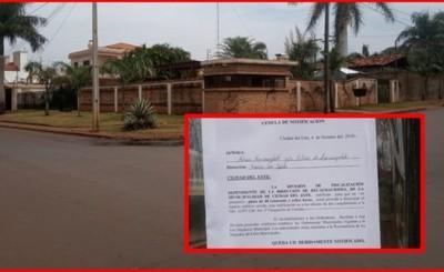 Familia Aguinagalde también es notificada para que retiren garita