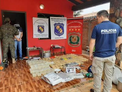 Más de 100 kilos de cocaína de alta pureza fueron incautados en Itauguá