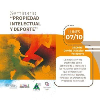 Seminario sobre Propiedad Intelectual y el Deporte será el 7 de octubre