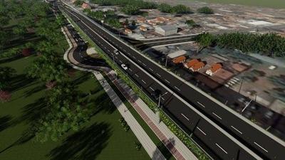 HOY / Construcción de muro perimetral avance 60 metros por día para obras del Corredor Vial Botánico