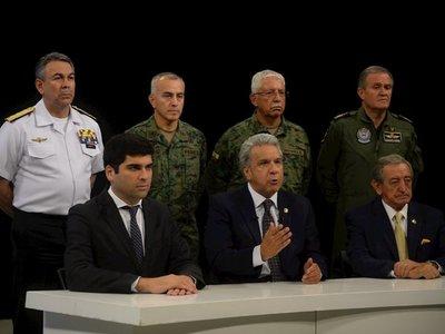 Lenín Moreno traslada sede de Gobierno y culpa a Correa de intento de golpe