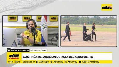 Continúa reparación de pista del Aeropuerto Silvio Pettirossi
