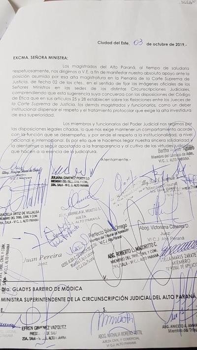 Vergonzosa sumisión de jueces locales ante nimiedades de ministra de la Corte