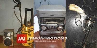 SUP. DELINCUENTES APREHENDIDOS Y RECUPERAN OBJETOS HURTADOS