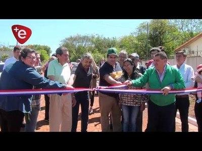 HABILITAN 12 CUADRAS DE EMPEDRADO EN EL B° SAN PEDRO