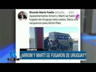 Arrom, Martí y Colmán se habrían fugado de Uruguay