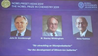 Desarrolladores de baterías de ion-litio logran el Nobel de Química