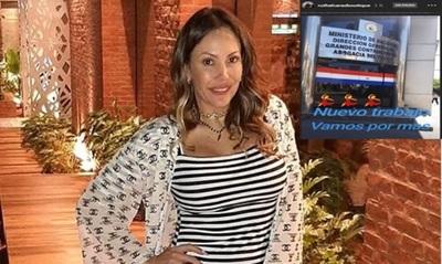 """Ruth Alcaraz: """"No trabajo en el Ministerio de Hacienda"""""""
