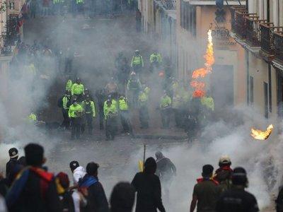 Violentos disturbios en  Ecuador en protesta  contra presidente Moreno