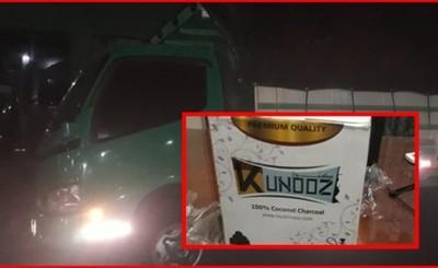 Camión con escencia y carbón para narguile incautados
