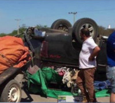 Mariscal Estigarribia: Vuelcan camino al Rally del Chaco