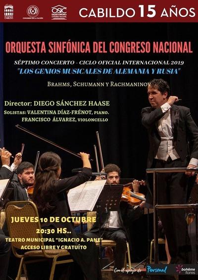 La Sinfónica del Congreso se presenta este jueves con obras de Brahms, Rachamaninov y Schumann