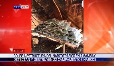 Agentes de la Senad desbaratan 22 campamentos de narcos en el norte