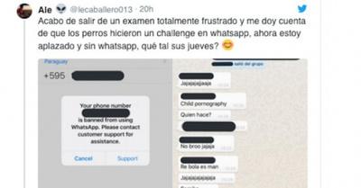 """Grupos de WhatsApp, bloqueados por """"desafío"""""""