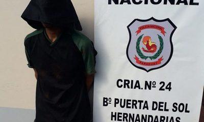 Detienen a delincuente con varios antecedentes en Hernandarias