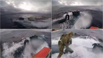 El impresionante video en el que la Guardia Costera de EE.UU. intercepta un narcosubmarino
