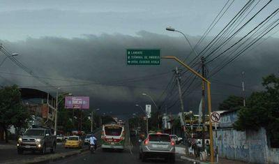 Amplían alerta de tormentas para Central y otros departamentos
