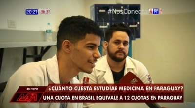 Brasileños hablan de lo poco que pagan para estudiar en Paraguay