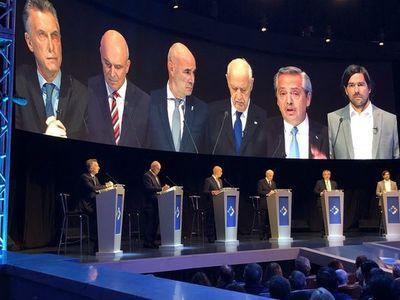 La deuda, tema fuerte en el debate entre presidenciales en Argentina