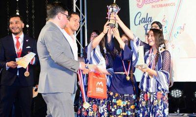 """Premian a ganadores de competencia artística """"Interbarrios-Buscando Talentos 2019"""""""