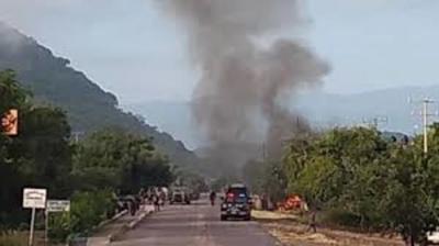 En México, 14 policías murieron tras ser emboscados por comando armado
