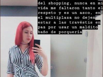 No quieren a travestis en baños de mujeres