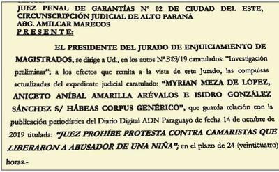 CDE: Un juez prohíbe escraches a camaristas y el JEM interviene