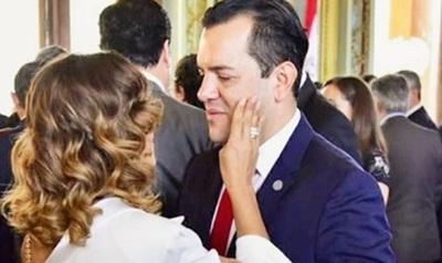 Marly Figueredo dijo que su marido 'siempre es aplaudido y bien recibido donde quiera que vaya'