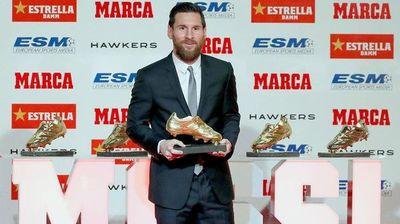 Messi recibirá la sexta Bota de Oro
