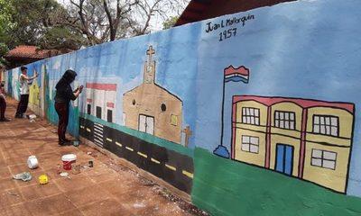 Con mural promocionan distritos del Alto Paraná