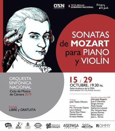 OSN presenta sonatas de violín y piano de Mozart