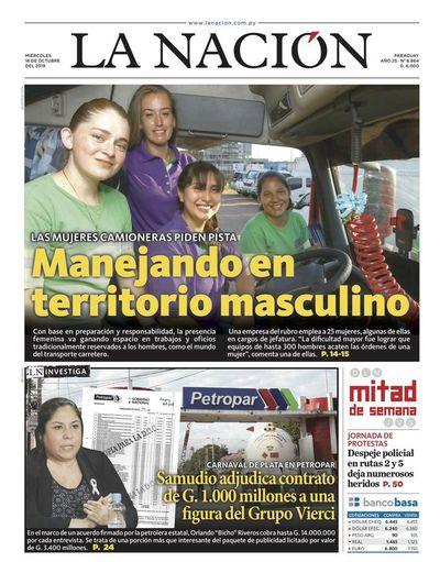 Edición impresa, 16 de octubre de 2019