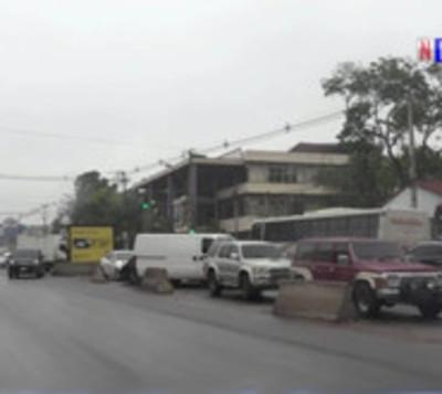 Choque de buses en Fernando de la Mora