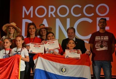 Paraguayos ganan 1er puesto en competencia internacional de danza en Marruecos