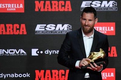 Messi celebra con su sexta Bota de Oro