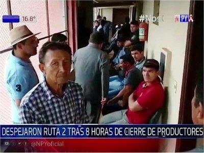 Más de 20 productores detenidos por cierre de ruta en Caaguazú