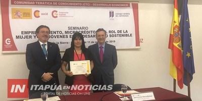 PROFESIONAL ITAPUENSE REPRESENTÓ AL PAÍS EN SEMINARIO INTERNACIONAL