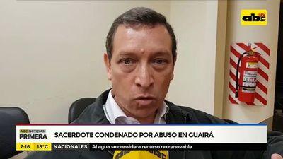 Exsacerdote condenado por abuso en Guaira