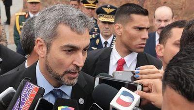 """Mario Abdo admite """"yo soy el presidente"""" ante las críticas por nombramiento de Acevedo"""