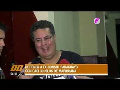 Detienen a ex cónsul paraguayo con casi 30 kilos de marihuana