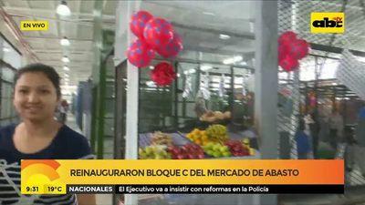 """Reinauguraron Bloque """"C"""" del Mercado de Abasto"""