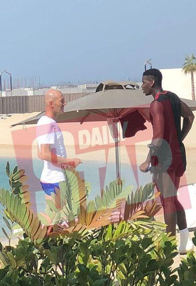 """El encuentro de Zidane con Pogba fue """"pura casualidad"""""""
