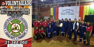 REALIZAN COLECTA PARA MÓVIL DE LOS BOMBEROS DE ITAPÚA POTY