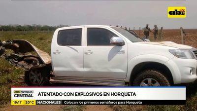 Atentado con explosivos en Horqueta
