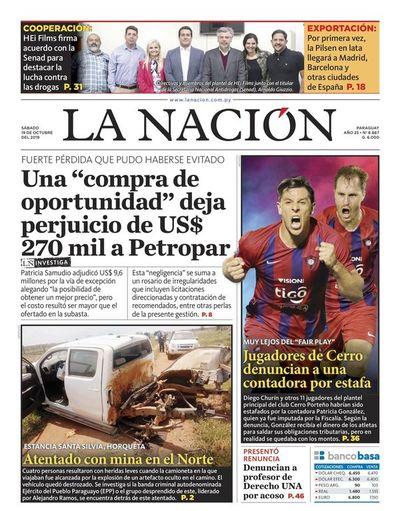 Edición impresa, 19 de octubre de 2019