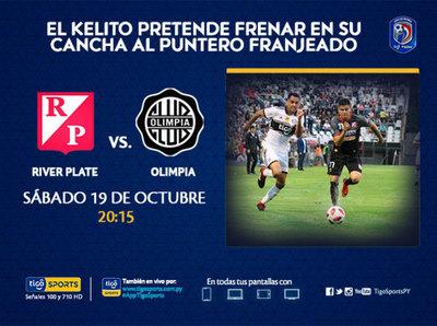 Olimpia no quiere detenerse ante River Plate
