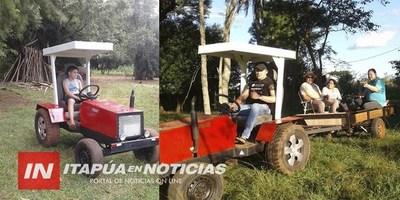 FABRICARON UN TRACTOR CON UN MOTOR DE MOTOCICLETA