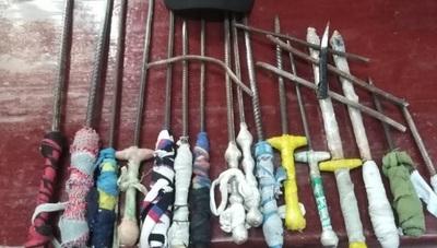 Incautan armas blancas en penal de Oviedo