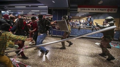 Nueva jornada de incidentes, saqueos y cacerolazos en Chile